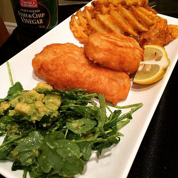 Guinness Battered Fish and Chips