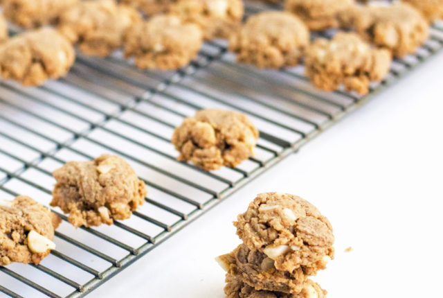 Salted Brown Butter Macadamia Nut Cookies