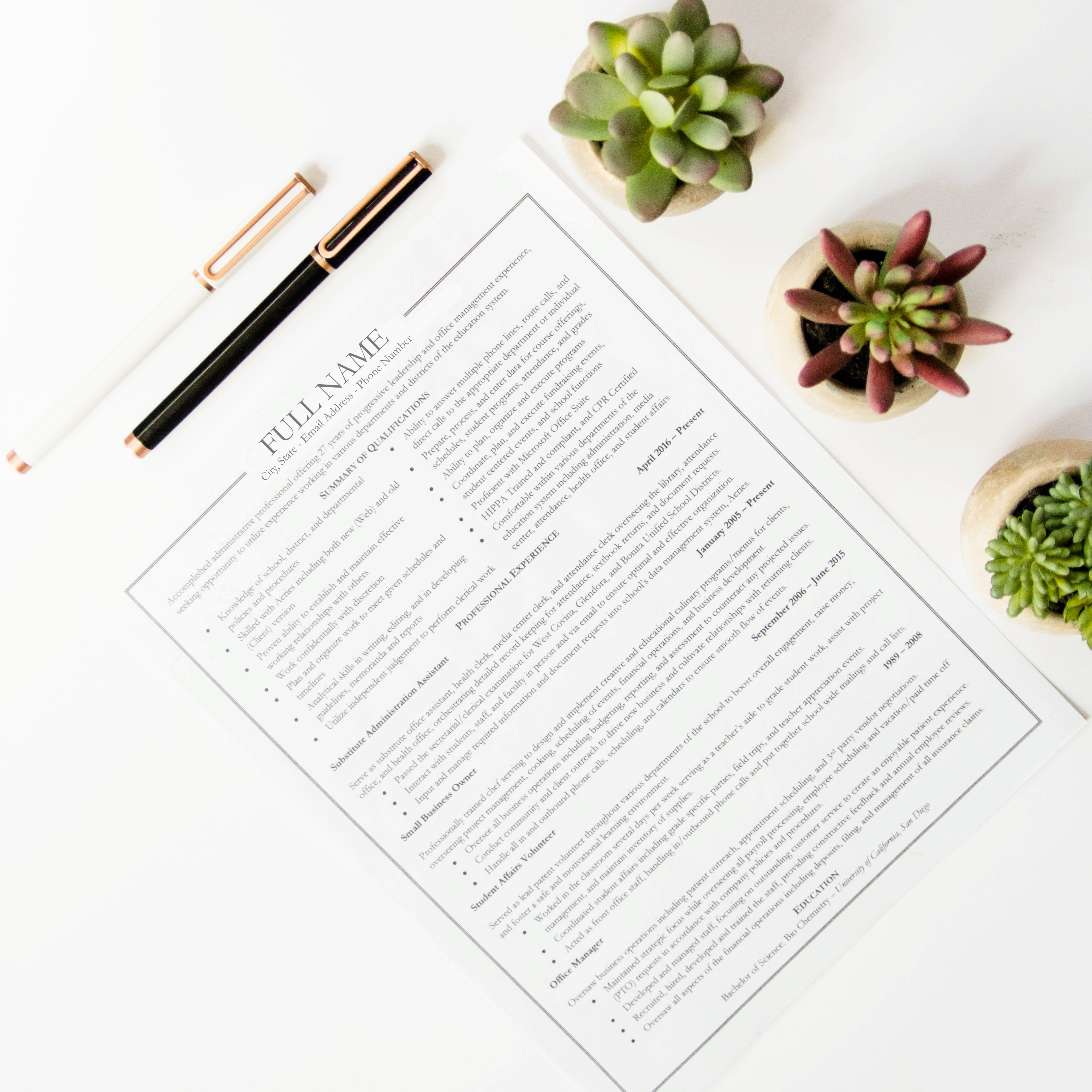 How To Integrate Active Verbs Into Your Resume Write Styles